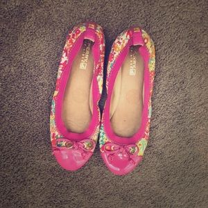 Sperry Pink Flower Shoes